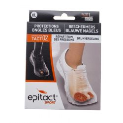 Epitact Sport protections ongles bleus extra-large 2 pièces