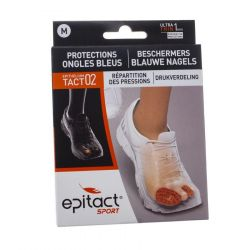 Epitact Sport protections ongles bleus medium 2 pièces