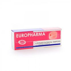Europharma tampons lubrifiant Tampons 6 pièces