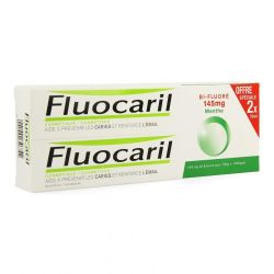 Fluocaril Bi-Fluoré duo dentifrice blancheur Dentifrice 2x75ml
