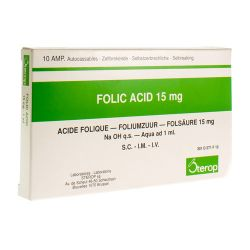 Foliumzuur 15mg 10x1ml