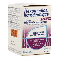 Hexomédine solution trans dermique 0,15% Solution 45ml