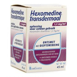 Hexomedine Transdermaal Oplossing 45ml