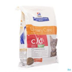 Hills prescription c/d Urinary Care kip Droge brokjes 8kg