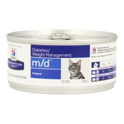 Hills Prescription M/D Katze minced+Leber Dosenfutter 156g