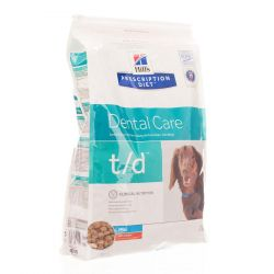 Hills Prescription T/D hond mini    Droge brokjes 3kg