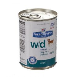 Hills Prescription W/D hond        Blikvoeding 370g