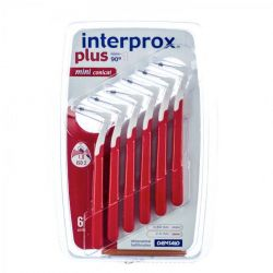 Interprox Plus Mini Conical rood 6 stuks