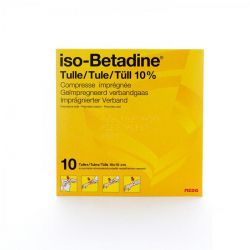 iso-Betadine® tulle 10cmx10cm Tulle gras 10 pièces