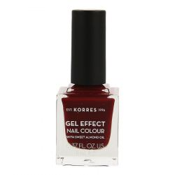 Korres Sweet Almond Gel effect 57 rouge bordeaux Vernis à ongles 11ml