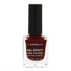 Korres Sweet Almond Gel effect 59 wijnrood Nagellak 11ml