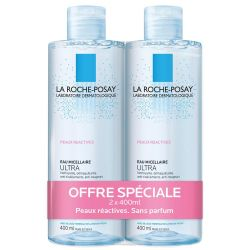 La Roche-Posay Micellair water Ultra Reactieve huid Promo Micellaire oplossing 2x400ml