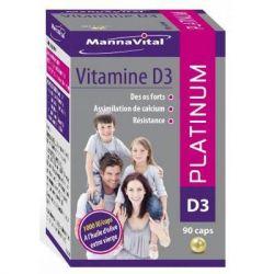 Mannavital Vitamin D3 platinum Kapseln 90 Stück