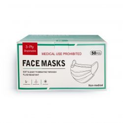 Masque buccal jetable 3 couches 50 pièces
