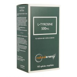 Natural Energy L-tyrosine 500mg  Capsules 60 pièces