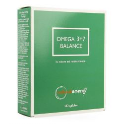 Natural Energy Omega 3+7 balance Capsules 40 pièces
