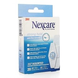 Nexcare Strong hold assortiment 20 stuks