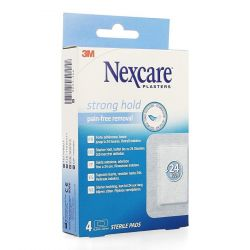 Nexcare Strong hold pads 4 stuks