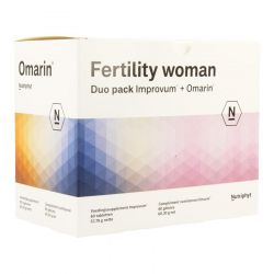 Nutriphyt Fertility woman Duo NF (Improvum tabletten + Omarin capsules) Capsules & tabletten 60+60 stuks