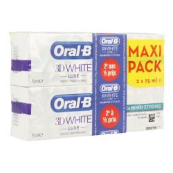 Oral-B 3D White luxe Diamond strong promo pack Dentífrico 2 X 75ml