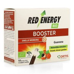 Ortis Red Energy Booster zonder alcohol Flapullen 10x15ml