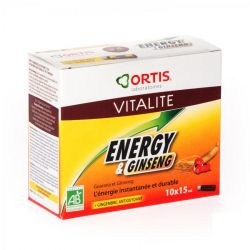 Ortis vitalité energy & ginseng  Flapulles 10x15  doses