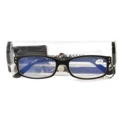 Pharmaglas Visionblue PC01 zwart +1,00 1 stuks