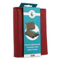 Plic Care Pillendoos Slim bordeaux 1 stuks