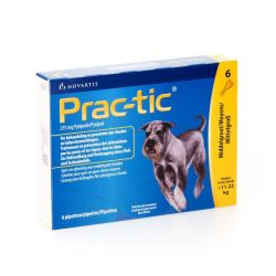 Prac-Tic chien de taille moyenne Spot-on Pipettes  6 pièces