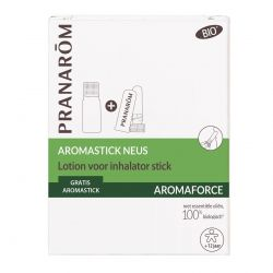 Pranarom Aromaforce duo Aromastick Neuslotion 10 ml & Inhalator stick Stick 1 stuks