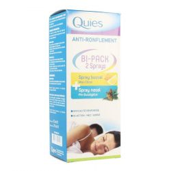 Quies anti-snurk bipack mondspray+neusspray Spray 70ml+15ml