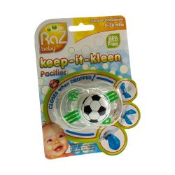 Raz baby keep it clean tétine soccer ball 1 pièces