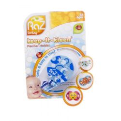 Raz baby keep-it-kleen attache-sucette bleu 1 pièces