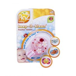 Raz baby keep-it-kleen attache-sucette rose 1 pièces