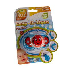 Raz baby keep-it-kleen pacifier sucette orange 1 pièces