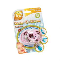 Raz baby keep-it-kleen pacifier sucette rose 1 pièces