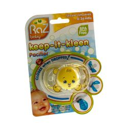 Raz baby keep-it-kleen sucette bobby bear 1 pièces