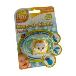 Raz baby keep-it-kleen sucette kit kitty 1 pièces
