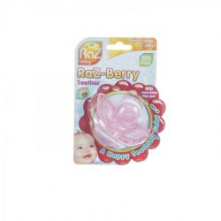 Raz baby Raz-Berry teether pink 1 stuks