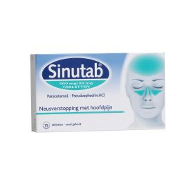 Sinutab 500/30mg Tabletten 15 stuks
