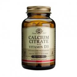 Solgar Calcium citrate with vitamin D-3 Cápsulas 60 unidades