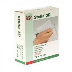 Stella 3D compresses de gaze 7,5cmx7,5cm 15 pièces