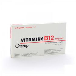 Sterop vitamine B12 1mg/1ml injectable  Ampoules 10x1ml