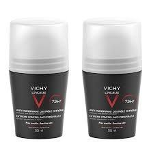 Vichy Homme Deo 72h roll-on Duo Roll-on 2x50ml