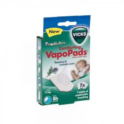 Vicks Vapopads Pediatric navulling lavendel&rozemarijn Patch 7 stuks