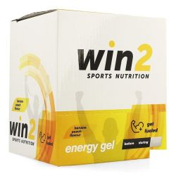 Win2 Energy gel banane-pêche Stick de gel 18x40g