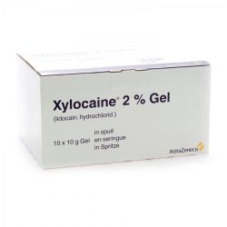 Xylocaine  2% gel seringue Gel 10x10g