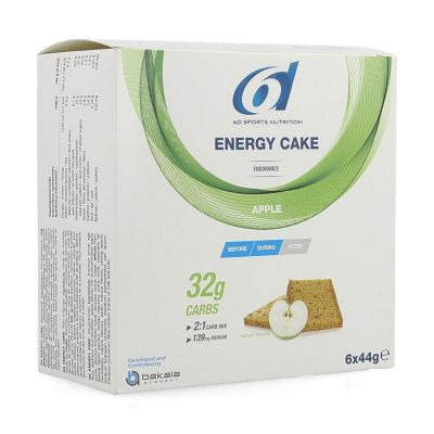 6D Energy cake pomme Biscuits 6x44g