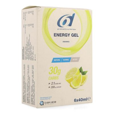 6D Energy gel lemon 40ml Gelstick 6 stuks