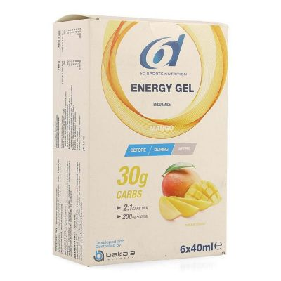 6D Energy Gel Mango Stick de gel 6x40ml